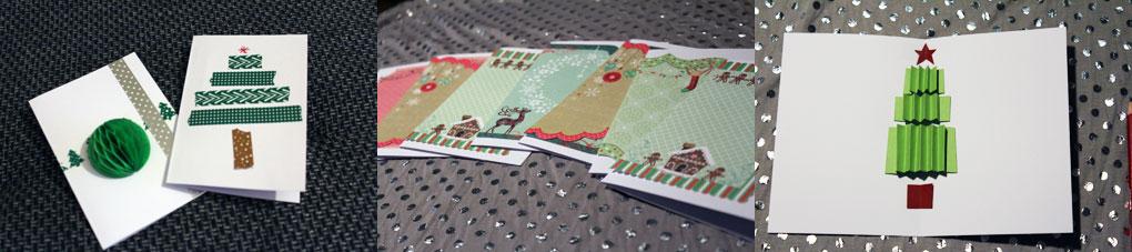 Selbstgebastelte-Weihnachtskarten
