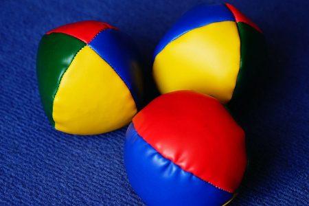 Jonglierbälle-Geschicklichkeitsspiele
